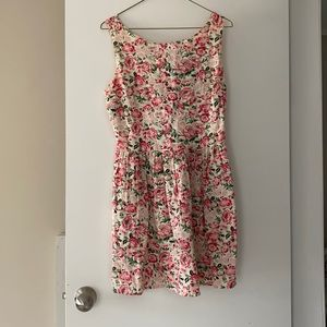 Pink Floral Dress with Braided Back Detail
